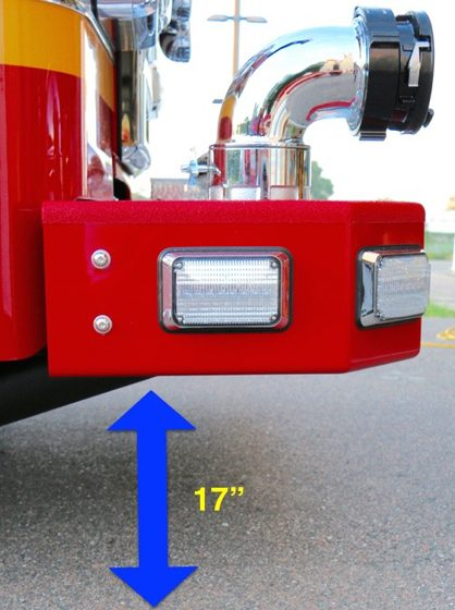 Front Suction Increased Clearance on a Fire Apparatus
