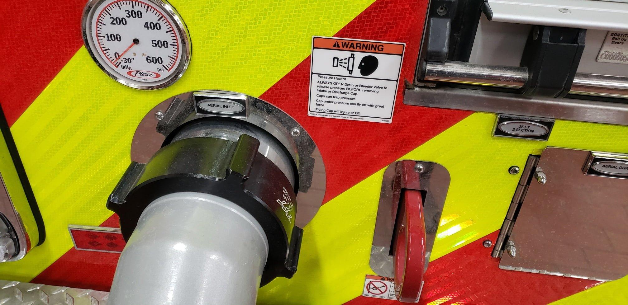 Commonsense signage on fire apparatus